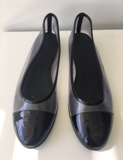 Chanel Black and Clear Flats Image 3