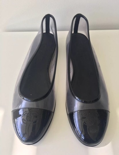 Chanel Black and Clear Flats Image 4