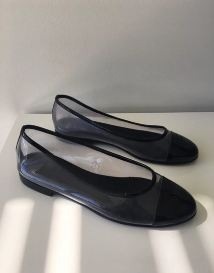 Chanel Black and Clear Flats Image 5