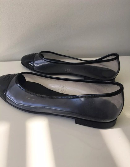 Chanel Black and Clear Flats Image 7