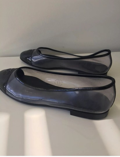 Chanel Black and Clear Flats Image 8
