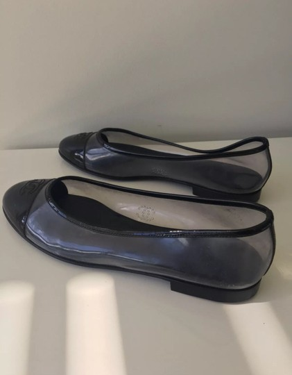 Chanel Black and Clear Flats Image 9