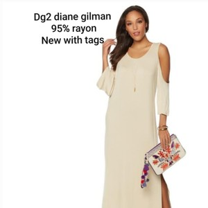 Teal Maxi Dress by DG2 by Diane Gilman