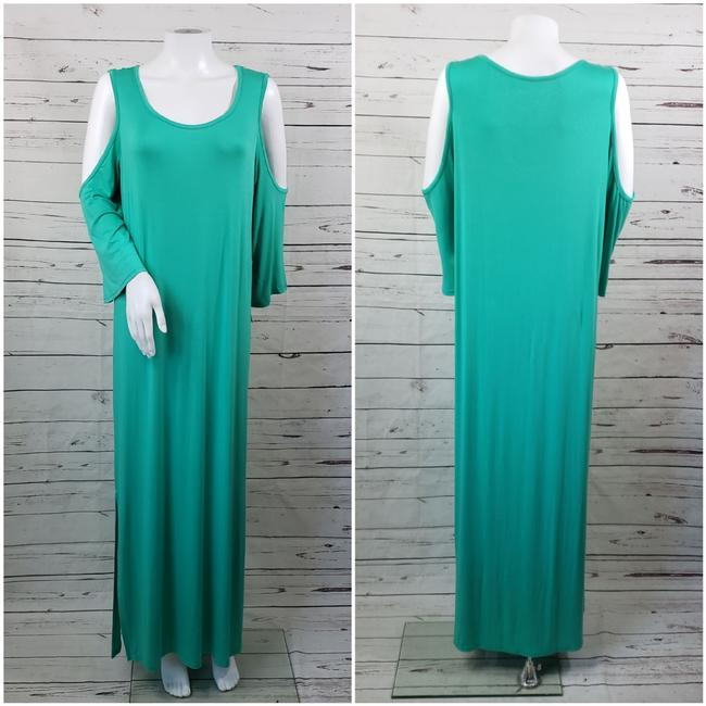 Teal Maxi Dress by DG2 by Diane Gilman Image 2