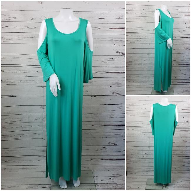 Teal Maxi Dress by DG2 by Diane Gilman Image 3