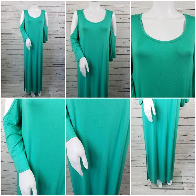 Teal Maxi Dress by DG2 by Diane Gilman Image 6