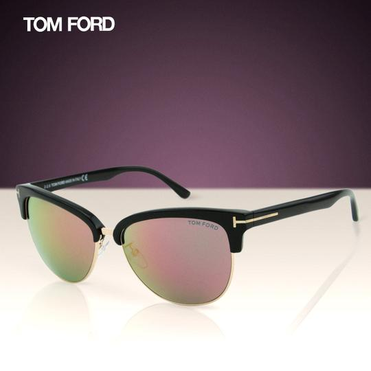 Tom Ford New TF Fany FT0368 01Z Women Cat-Eye Mirrored Sunglasses 59mm Image 2