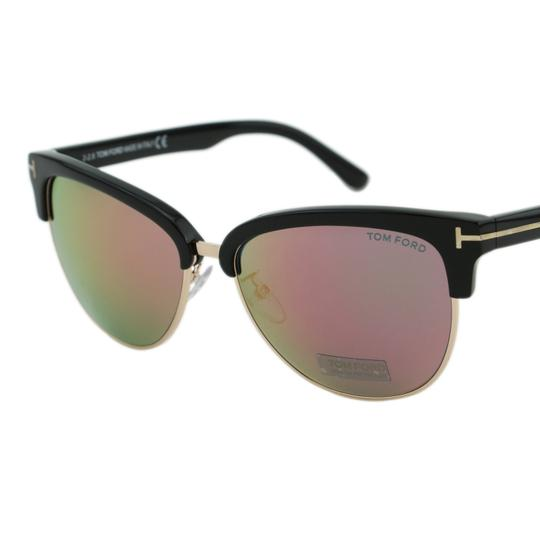 Tom Ford New TF Fany FT0368 01Z Women Cat-Eye Mirrored Sunglasses 59mm Image 3