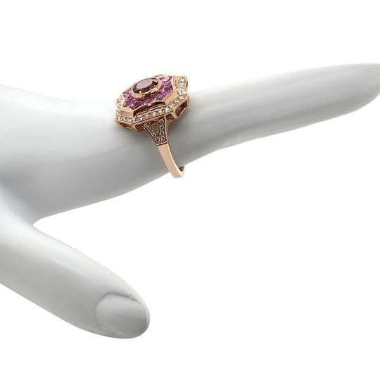 Other 14k Rose Gold Pink Sapphire, Tourmaline and Diamond Ring Image 1