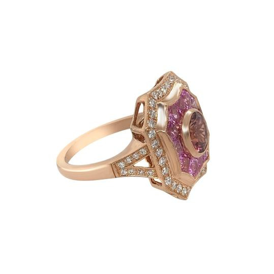 Other 14k Rose Gold Pink Sapphire, Tourmaline and Diamond Ring Image 2
