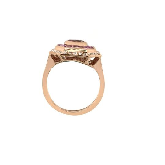 Other 14k Rose Gold Pink Sapphire, Tourmaline and Diamond Ring Image 3