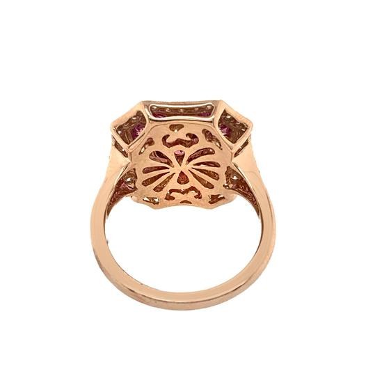 Other 14k Rose Gold Pink Sapphire, Tourmaline and Diamond Ring Image 5