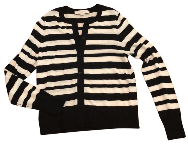 Item - Black and Ivory Striped Cardigan Size 4 (S)