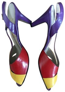 Jeffrey Campbell purple red yellow multicolored Platforms