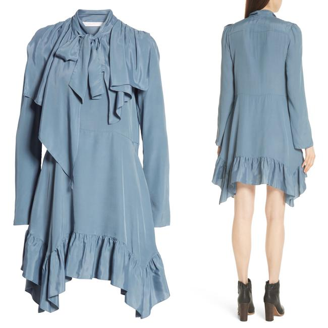 Preload https://img-static.tradesy.com/item/25114652/see-by-chloe-blue-tie-neck-ruffle-hem-short-casual-dress-size-10-m-0-0-650-650.jpg