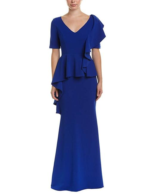 Badgley Mischka Ruffle V-neck Dress Image 3