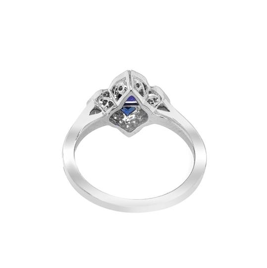 Other 14K White Gold .55ct Sapphire and Diamond Ring Image 1