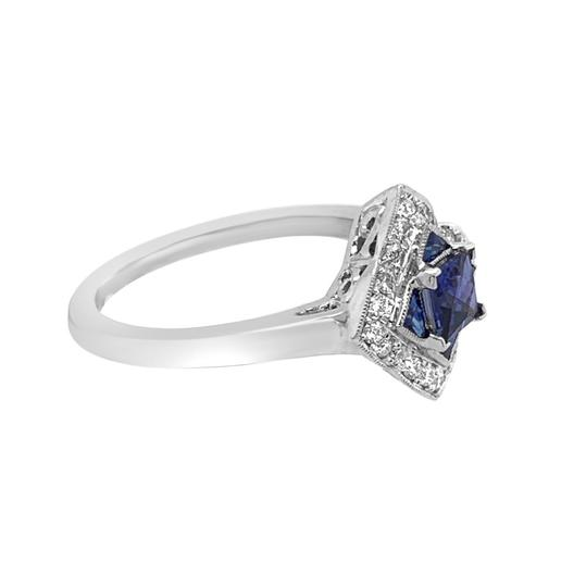 Other 14K White Gold .55ct Sapphire and Diamond Ring Image 3