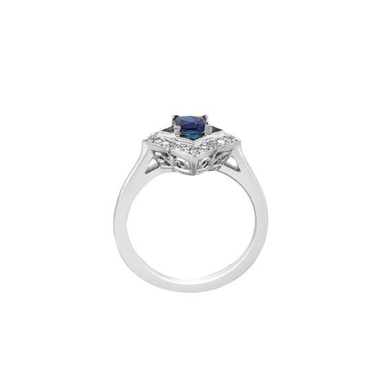 Other 14K White Gold .55ct Sapphire and Diamond Ring Image 4