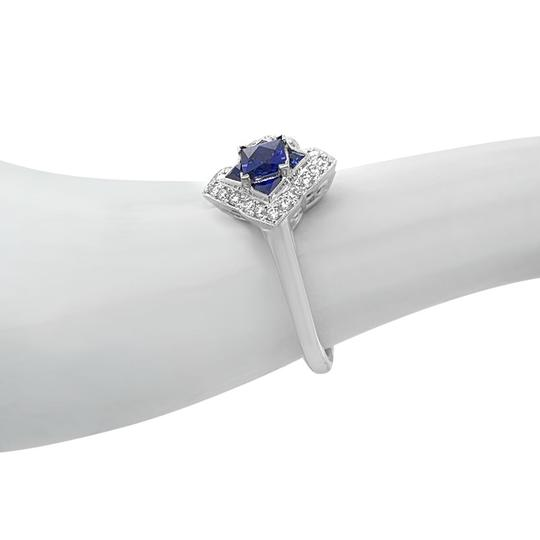 Other 14K White Gold .55ct Sapphire and Diamond Ring Image 5