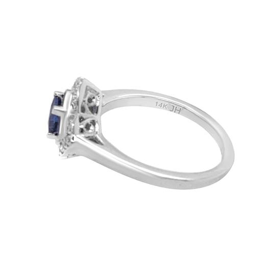 Other 14K White Gold .55ct Sapphire and Diamond Ring Image 6
