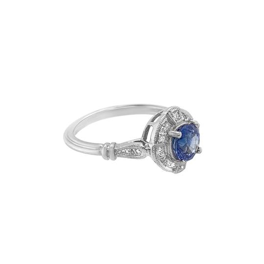 Other 18K White Gold 1.10ct Sapphire and Diamond Ring Image 1