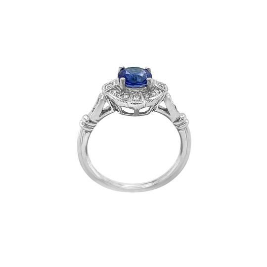 Other 18K White Gold 1.10ct Sapphire and Diamond Ring Image 2