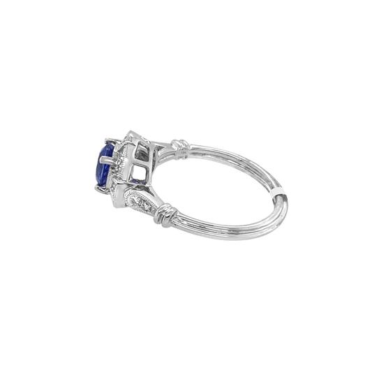 Other 18K White Gold 1.10ct Sapphire and Diamond Ring Image 3