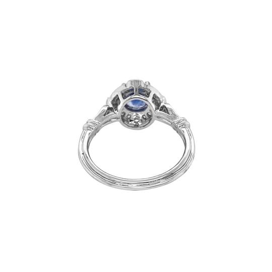 Other 18K White Gold 1.10ct Sapphire and Diamond Ring Image 4