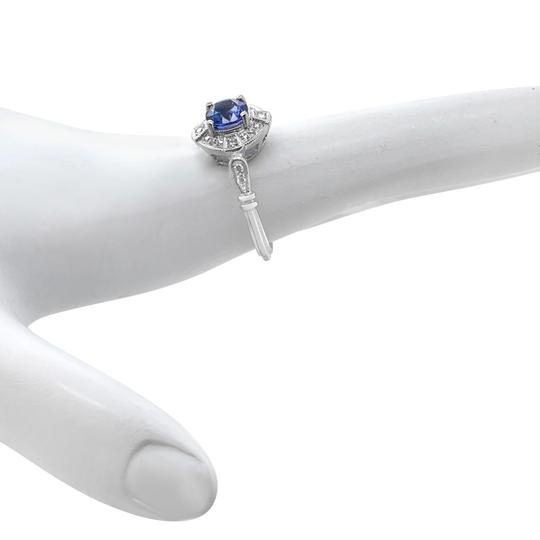 Other 18K White Gold 1.10ct Sapphire and Diamond Ring Image 5