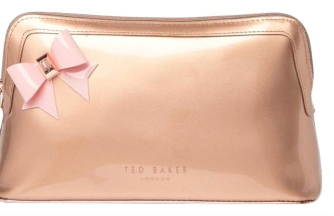 Item - Rose Gold Bow Detail Washbag Cosmetic Bag