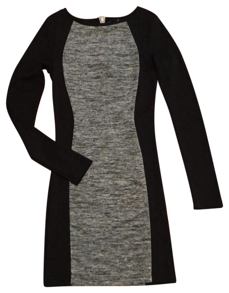 96f66d957ea Divided by H&M Black and Gray Exposed Zipper Night Out Dress Size 2 (XS)