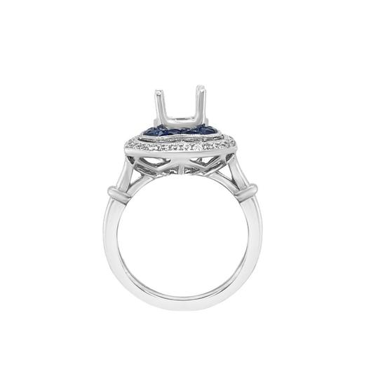 Other 14K White Gold 1.30ct Sapphire and Diamond Ring Mount Image 1