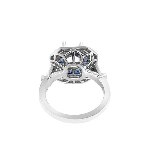 Other 14K White Gold 1.30ct Sapphire and Diamond Ring Mount Image 3