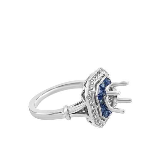 Other 14K White Gold 1.30ct Sapphire and Diamond Ring Mount Image 6