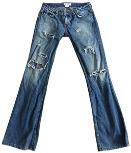 A X Armani Exchange Boot Cut Jeans-Distressed