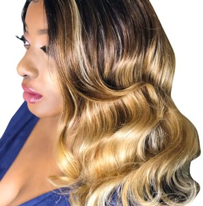Shades Styling And Beauty Boutique Custom Made Blonde Ombré Lace Frontal Wig