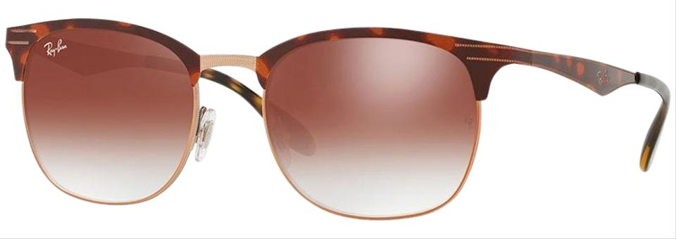 1712411bd Ray-Ban Copper Havana Frame & Red Mirrored Gradient Lens Unisex Square  Sunglasses