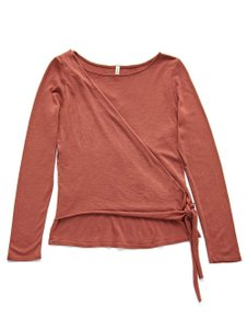 Lanston Sporty Edgy Tie Chic Casual T Shirt Spice