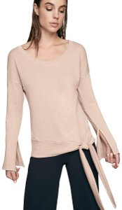 Lanston Sporty Classic Casual Tie Chic Sweater