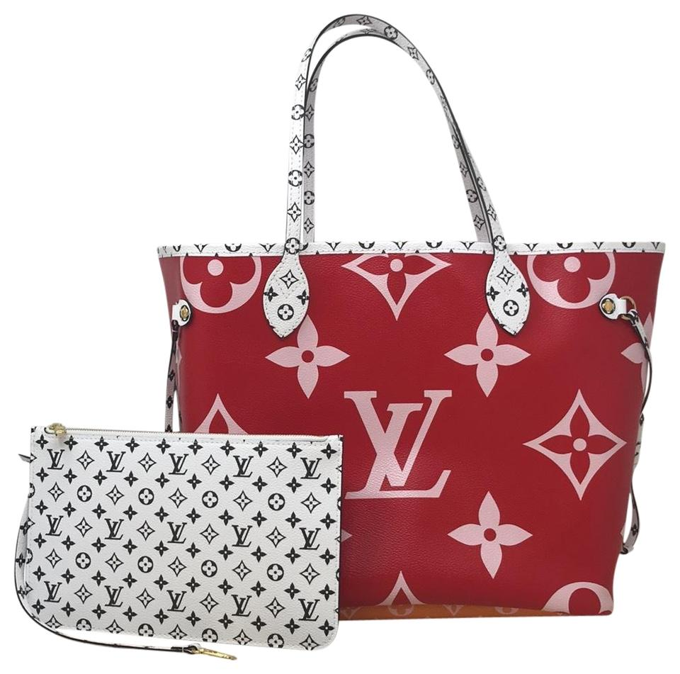 82e898ba297 Louis Vuitton Giant Neverfull Giant Summer 2019 Neverfull Limited Ed Limited  Edition Tote in Rouge Image ...