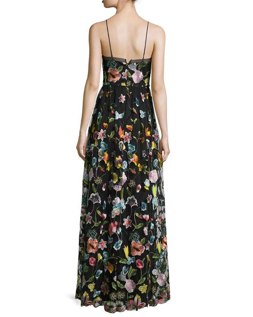 Aidan Mattox Embroidered Sheer Gown Dress Image 2