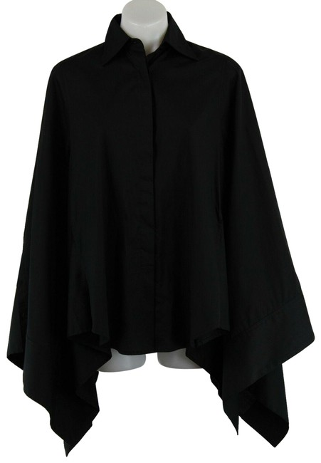 Preload https://img-static.tradesy.com/item/25115067/kaufmanfranco-black-button-front-cape-blouse-small-button-down-top-size-6-s-0-1-650-650.jpg