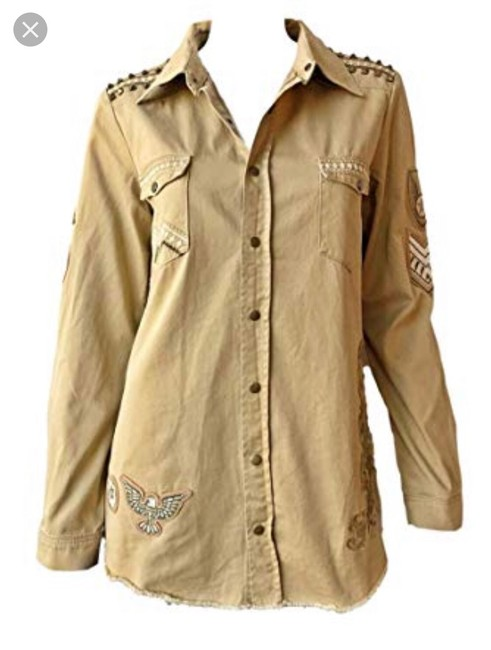 Spell & the Gypsy Collective Taupe Womens Jean Jacket Image 2
