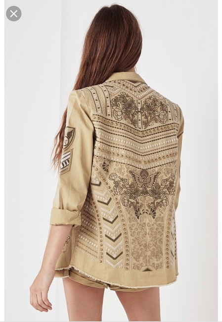 Spell & the Gypsy Collective Taupe Womens Jean Jacket Image 3