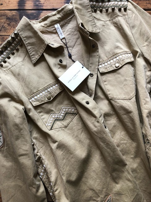 Spell & the Gypsy Collective Taupe Womens Jean Jacket Image 4