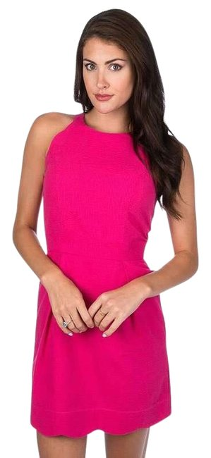 Item - Pink Raspberry Landry Scalloped Short Casual Dress Size 0 (XS)