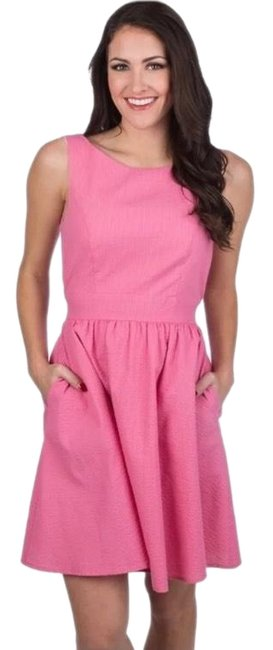 Item - Pink Emerson Rose Open Bow Back Short Casual Dress Size 12 (L)