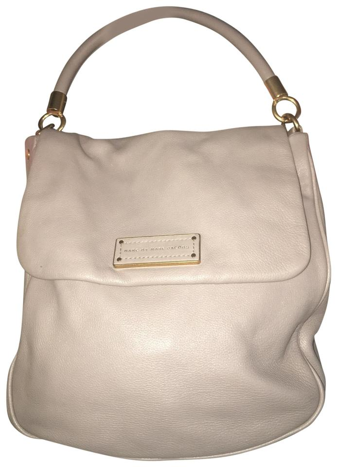 c0cc73890e2 Marc by Marc Jacobs Lili Ukita Large Toupe Grey Leather Hobo Bag ...