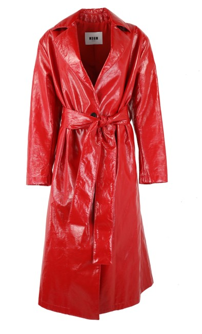 Preload https://img-static.tradesy.com/item/25115313/msgm-red-faux-leather-coat-size-4-s-0-2-650-650.jpg
